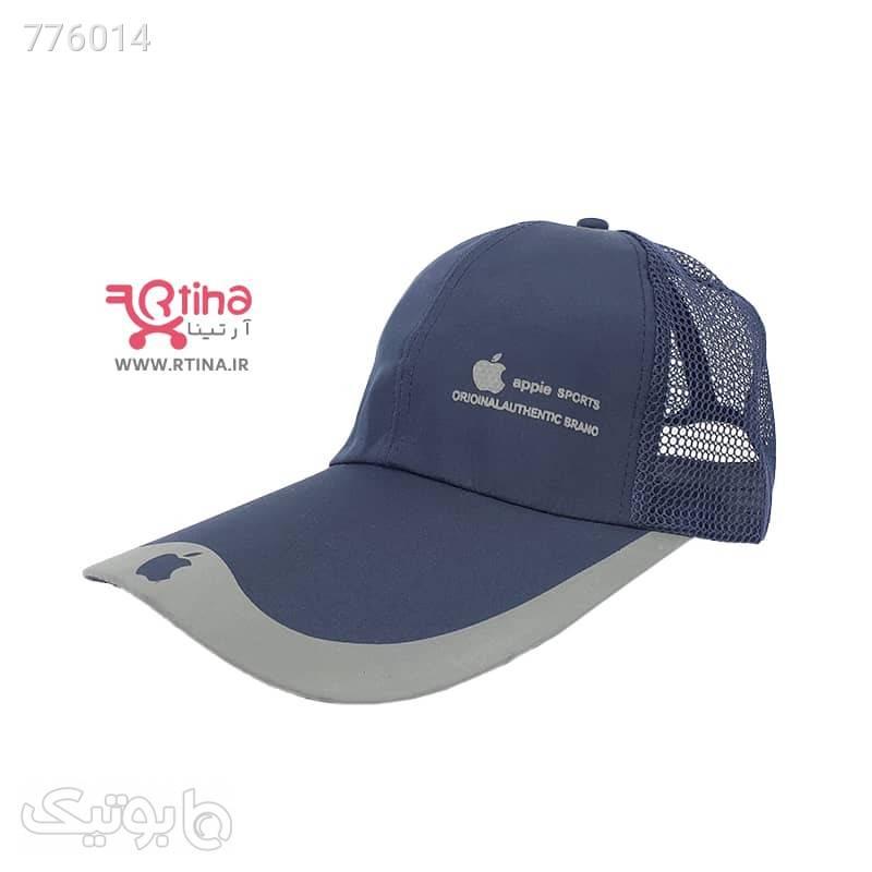 کلاه اسپرت بیسبالی مردانهزنانه مدل Apple سفید کلاه و اسکارف