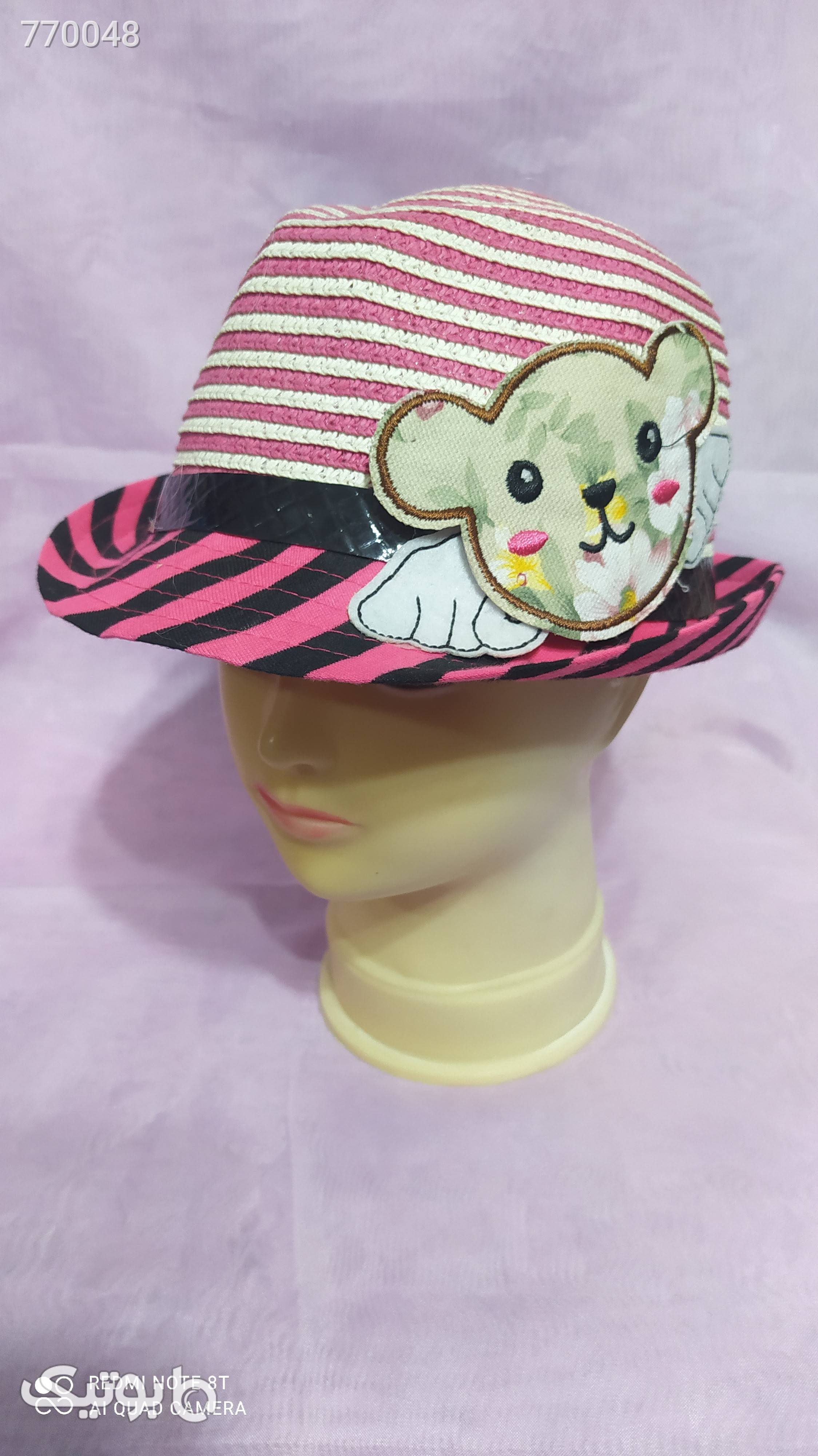 کلاه بچگانه صورتی کلاه و اسکارف