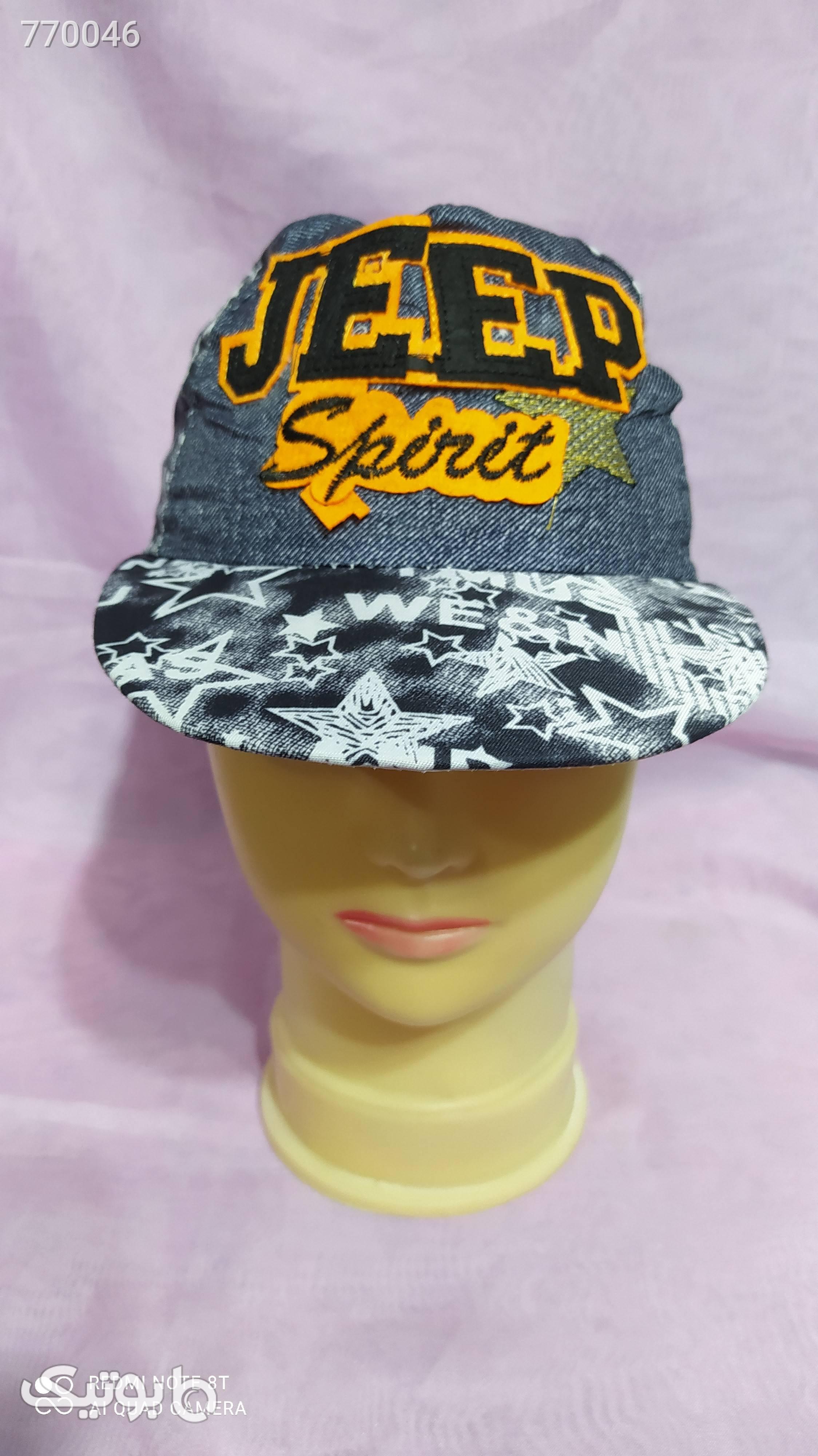 کلاه پسرانه آبی کلاه و اسکارف