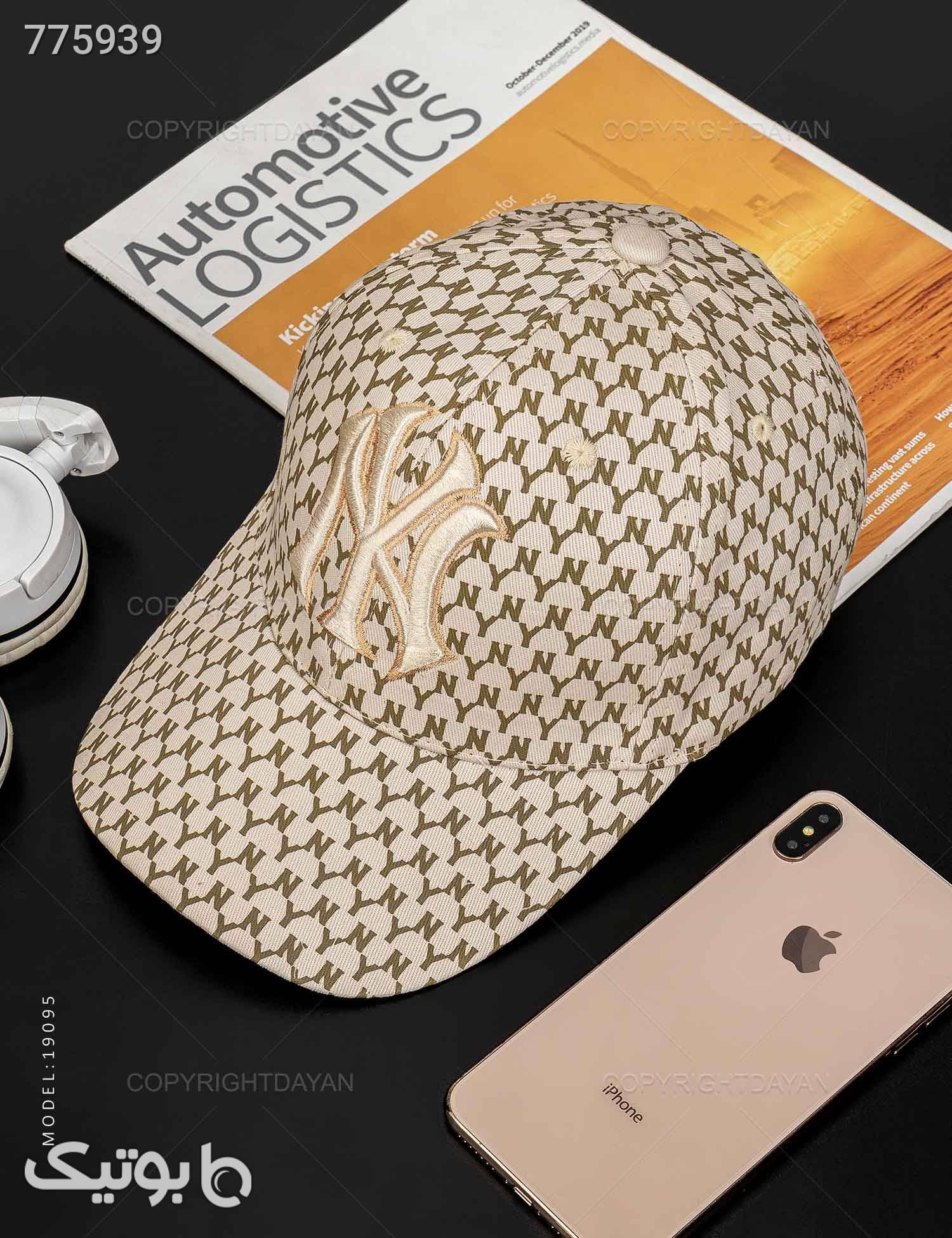 کلاه کپ New York مدل 19095 کرم کلاه و اسکارف