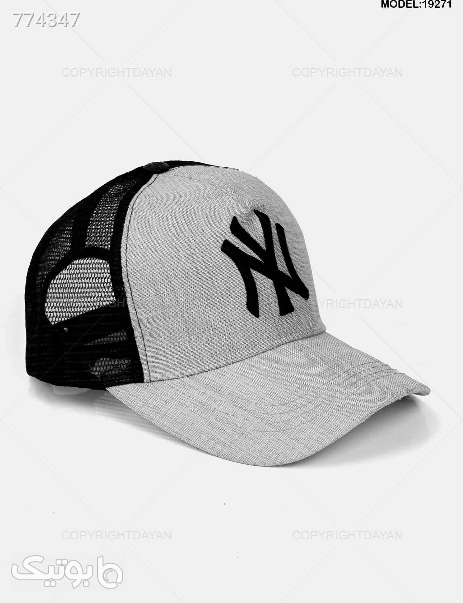 کلاه کپ New York مدل 19271 طوسی کلاه و اسکارف