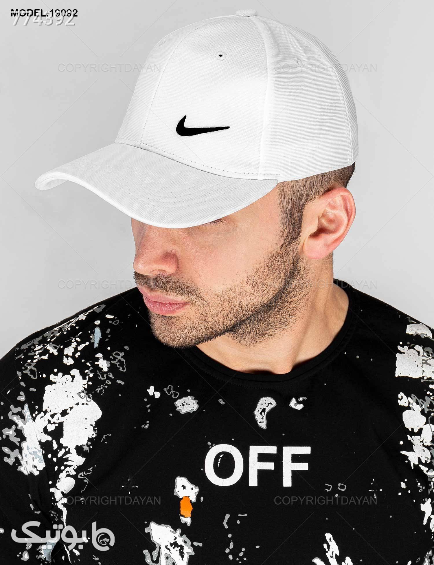 کلاه کپ Nike مدل 19092 سفید کلاه و اسکارف