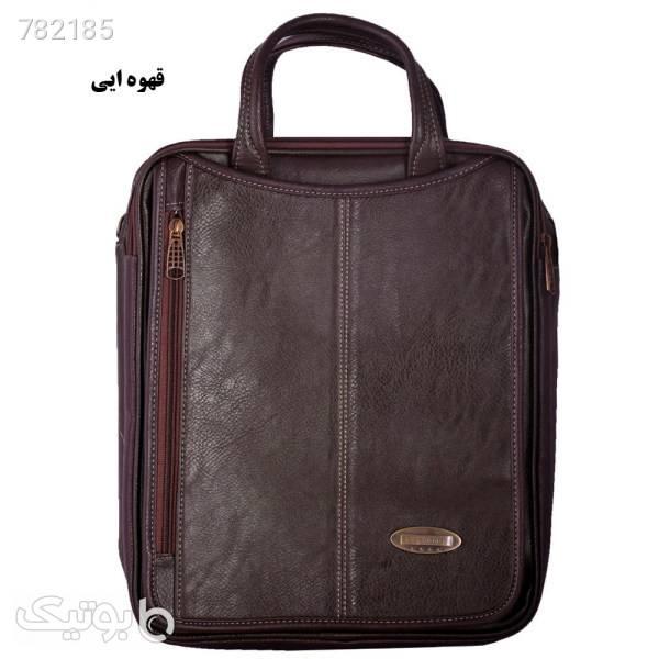 کیف دستی چرم ما مدل SM12 قهوه ای كيف مردانه