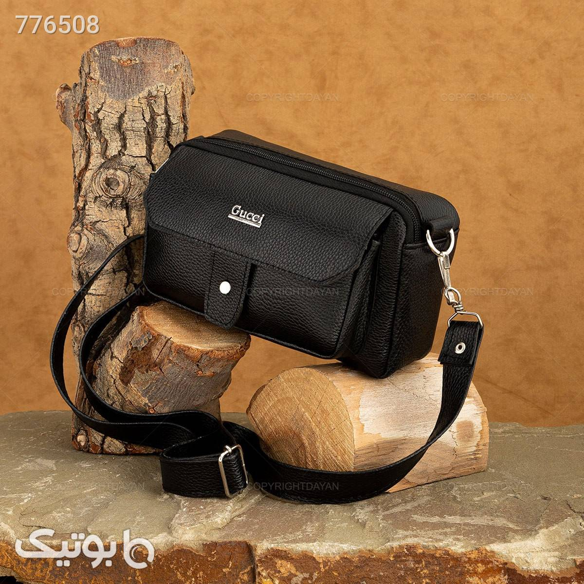 کیف دوشی Gucci مدل 18393 مشکی كيف مردانه