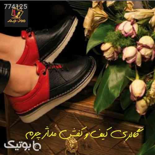 کفش طبی تمام چرم - کفش تخت زنانه