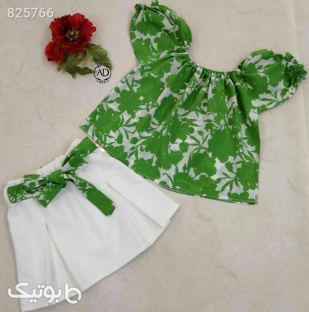 دو تیکه سبز لباس کودک دخترانه