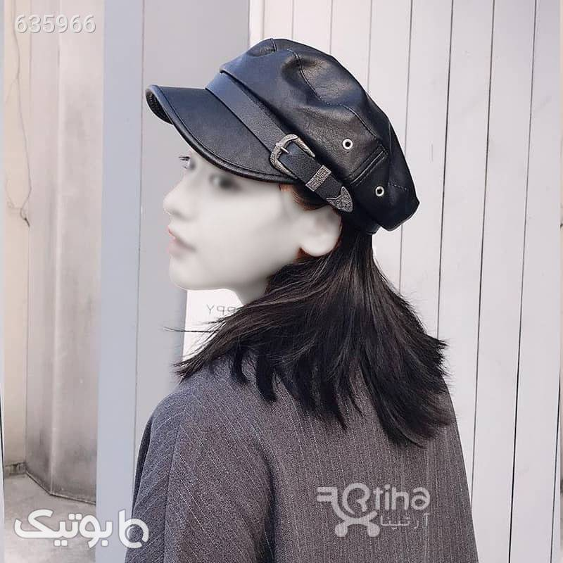 کلاه چرم نقاب کوتاه مدل Barata1 سبز کلاه و اسکارف