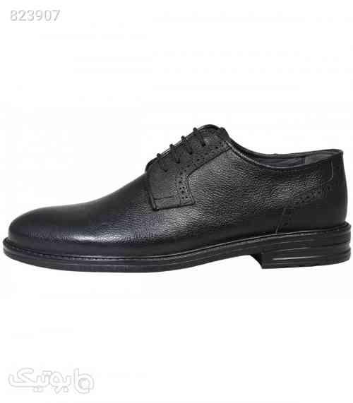 کفش چرم رسمی مردانه aamp;k رنگ مشکی مدل753 - كفش مردانه
