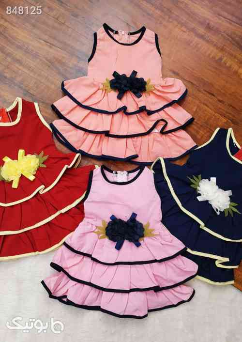 سارافون دامن پله ای - 4 سایز 2 قیمت - لباس کودک دخترانه