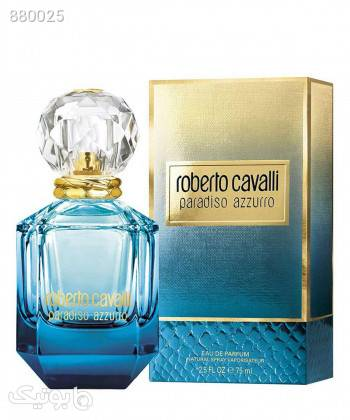ادوپرفیوم زنانه روبرتو کاوالی Roberto Cavalli مدل Paradiso Azzurro حجم 75 میلی لیتر فیروزه ای ابزار آرایشی