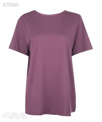 تیشرت زنانه ال سی وایکیکی LC Waikiki کد 1S66502 بنفش تی شرت زنانه
