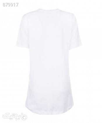 تیشرت طرح دار زنانه جامه پوش آرا JPA کد 4012019416 سفید تی شرت زنانه