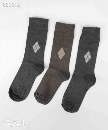 جوراب مردانه باترفلای Butterfly بسته 3 عددی کد M0206014SO مشکی جوراب و پاپوش