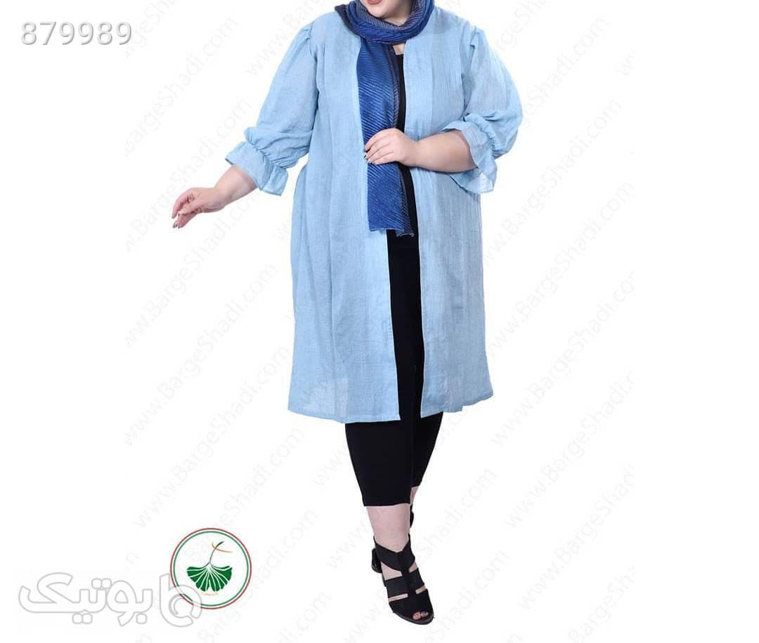 مانتو وال مشکی سایز بزرگ زنانه