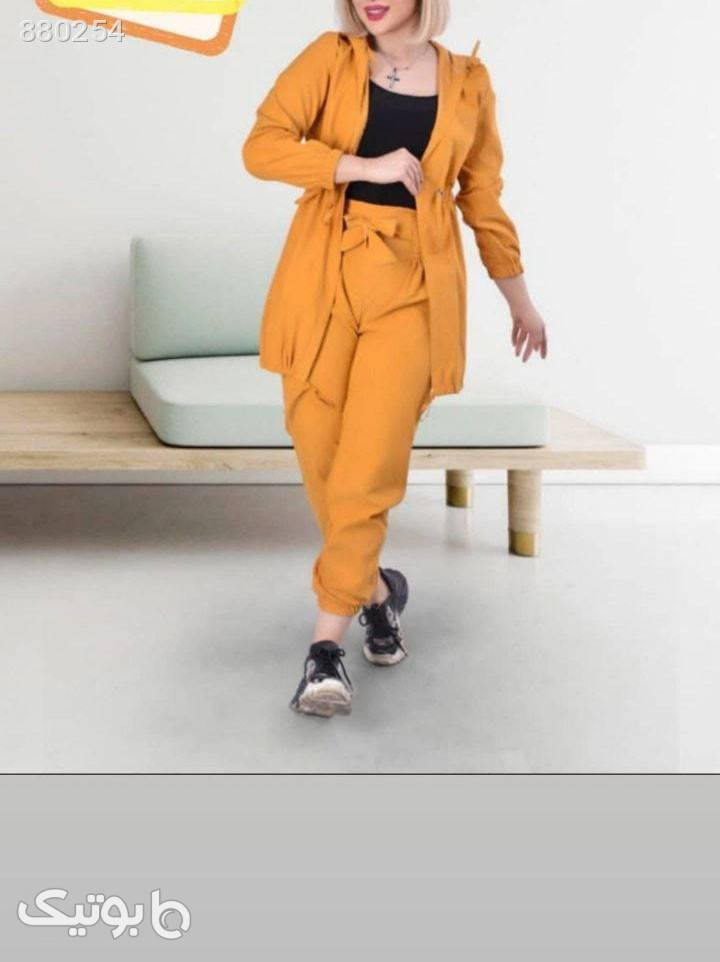 سویشرت وشلوار زرد سوئیشرت زنانه