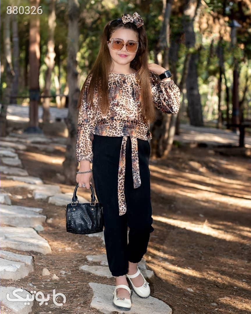 سویشرت شلوار  مشکی لباس کودک دخترانه