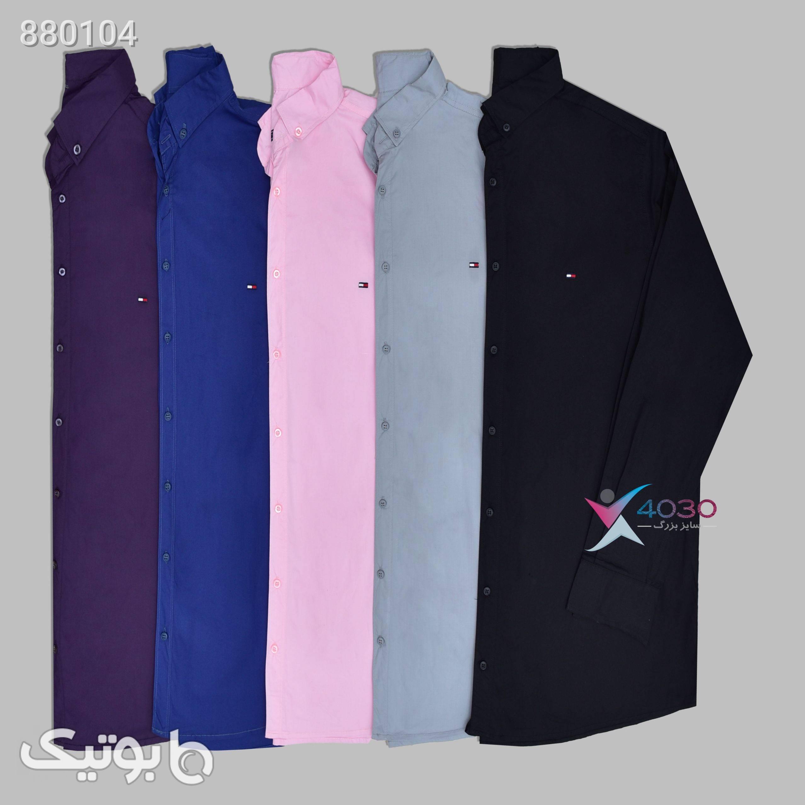 پیراهن سوپر سایزکد 586  آبی پيراهن مردانه