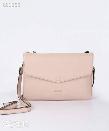 کیف دوشی زنانه مارال چرم Maral Leather مدل پونه صورتی كتانی زنانه