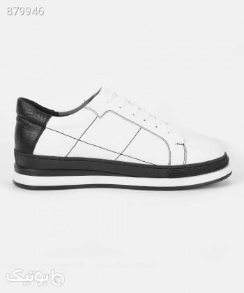 کفش مردانه چرم درسا Dorsa کد 41070 سفید كتانی مردانه