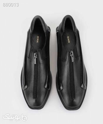 کفش زنانه چرم درسا Dorsa کد 38519 مشکی کفش تخت زنانه
