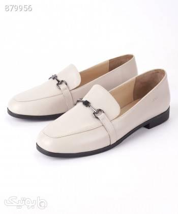 کفش لوفر زنانه مارال چرم Maralleather مدل رامیلا سفید كفش مردانه