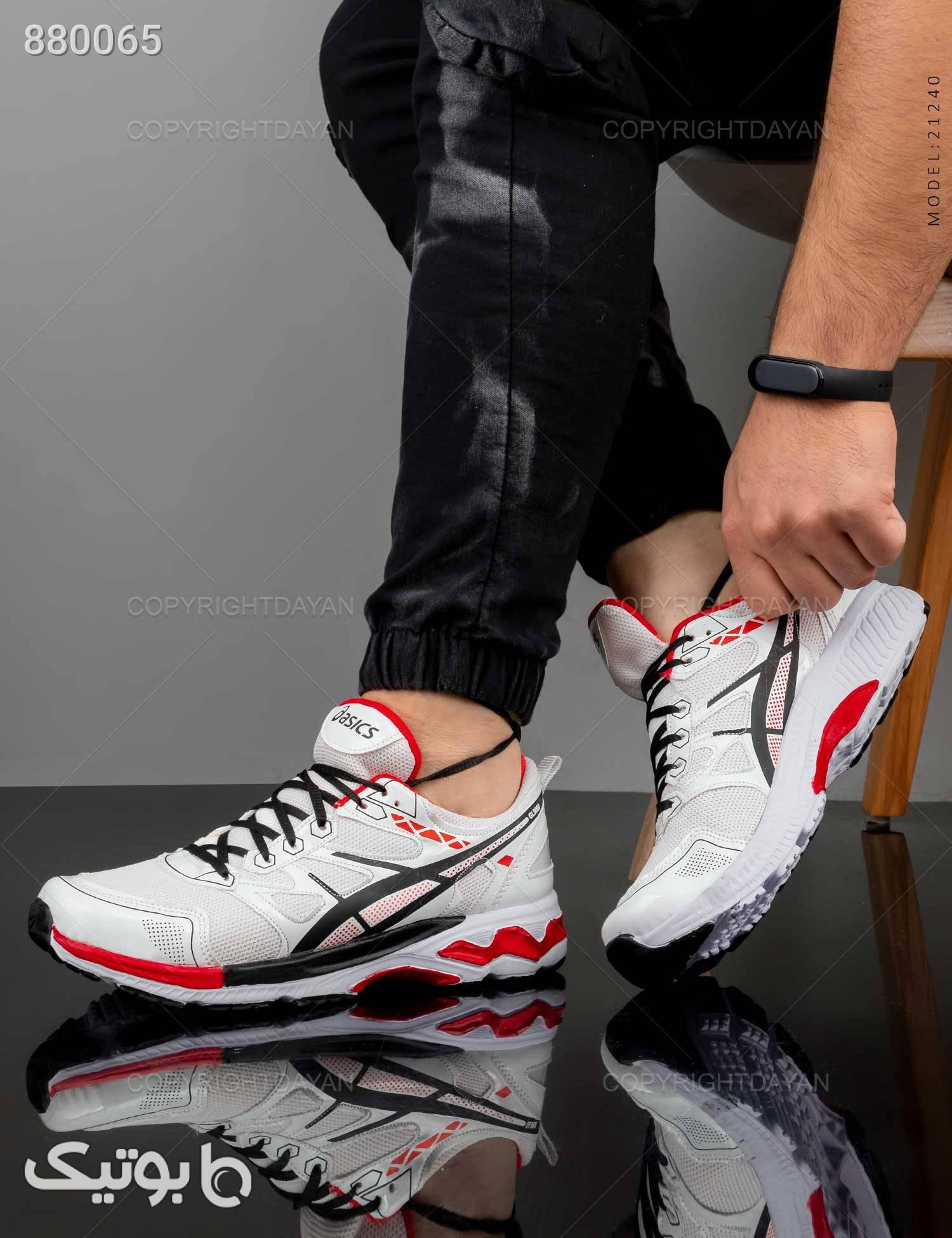 کفش ورزشی مردانه Asics مدل 21240 کرم كفش مردانه