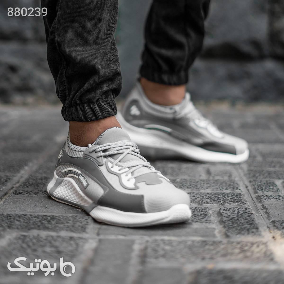 کفش ورزشی Adidas مردانه طوسی مدل Carter نقره ای كفش مردانه