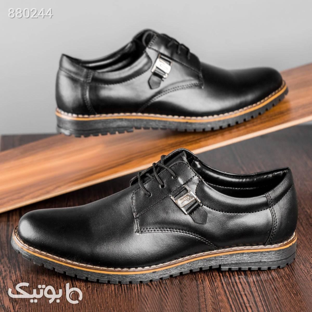 کفش کالج مردانه مدل Hamon مشکی كفش مردانه