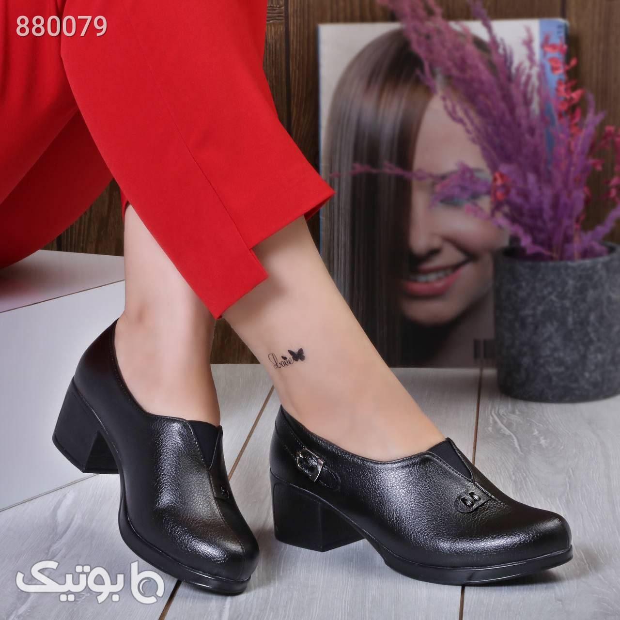 کفش شرانگ زیره پیو ۴سانت، سبک و راحت مشکی كفش پاشنه بلند زنانه