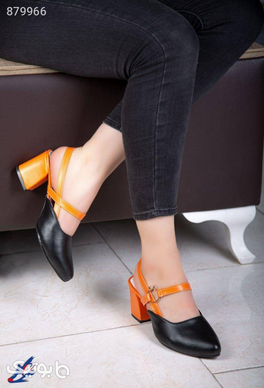 کفش مجلسی کد 416 پاشنه 5 سانت مشکی كفش پاشنه بلند زنانه