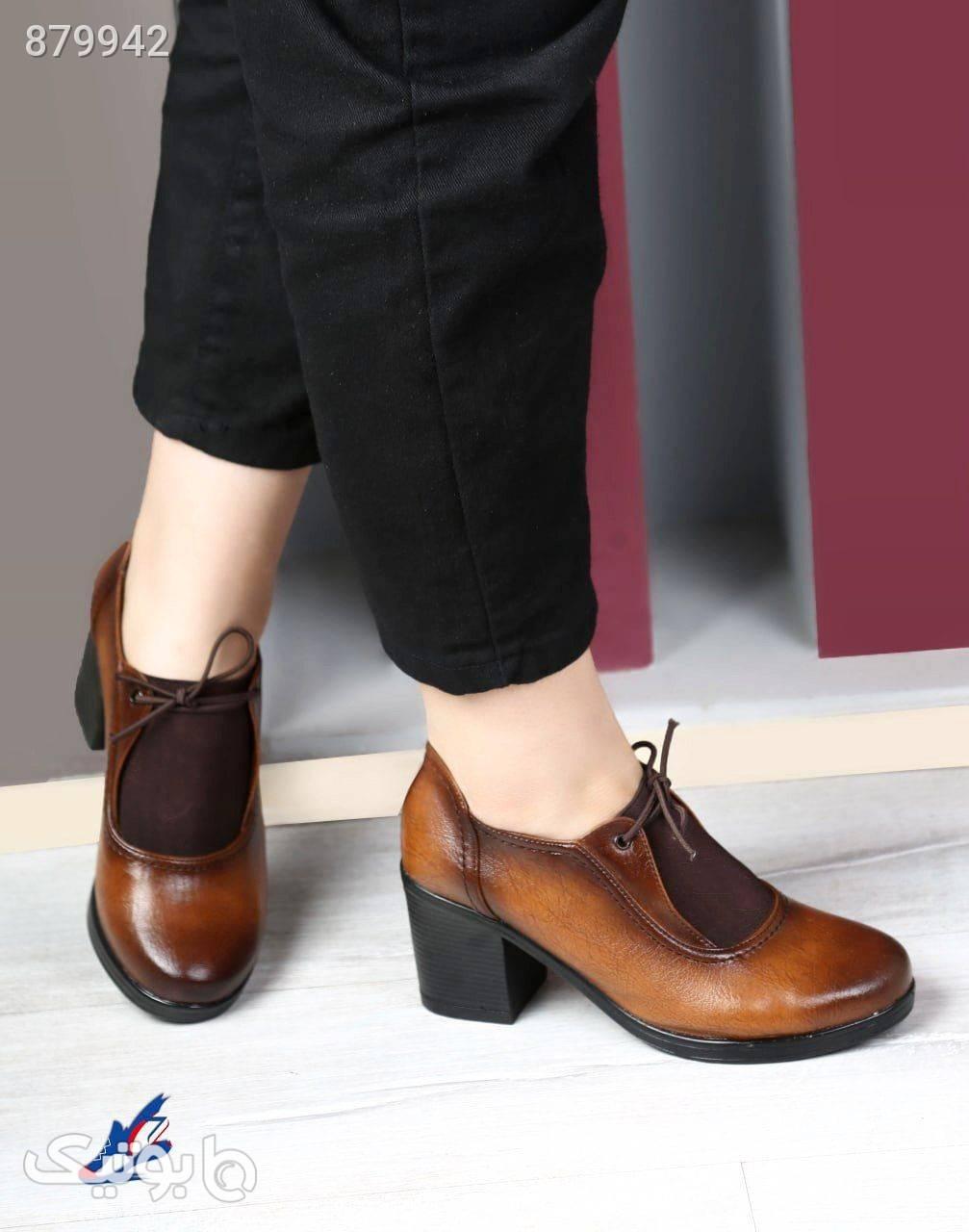 کفش کلاسیک کد 34پاشنه۷سانت پشت چرم مشکی كفش پاشنه بلند زنانه