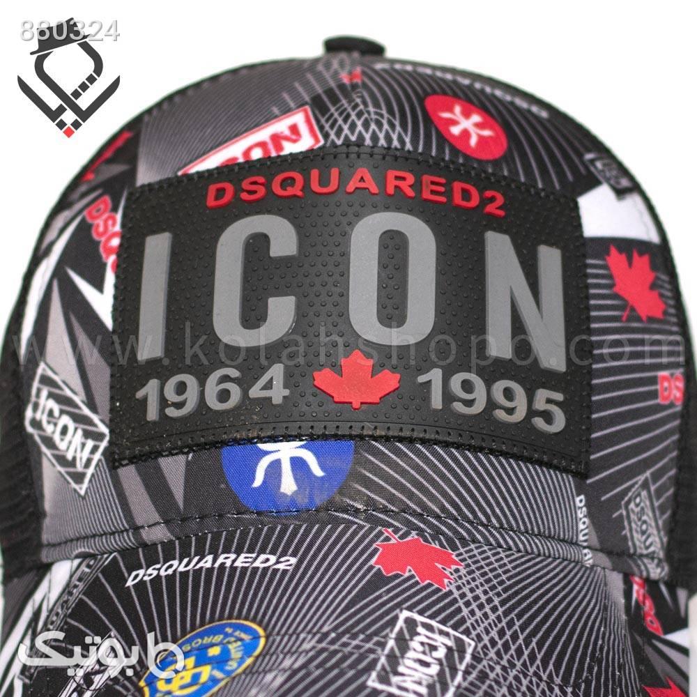 کلاه پشت توری ICON مشکی کلاه و اسکارف