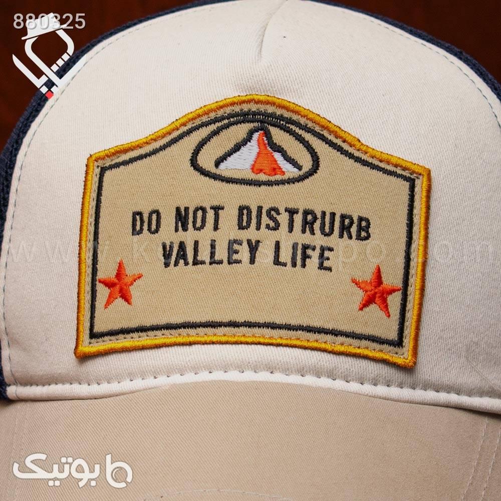 کلاه پشت توری VALLEY LIFE کرم کلاه و اسکارف