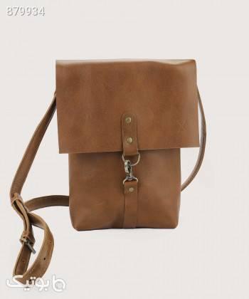 کیف دوشی زنانه چرم لانکا Lanka Leather مدل CB1 قهوه ای كيف زنانه
