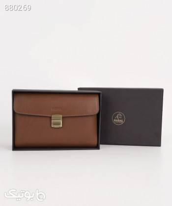کیف پاسپورتی مردانه مارال چرم Maral Leather مدل وستا مشکی كيف مردانه