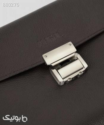 کیف پاسپورتی مردانه مارال چرم Maral Leather مدل وستا قهوه ای كيف مردانه