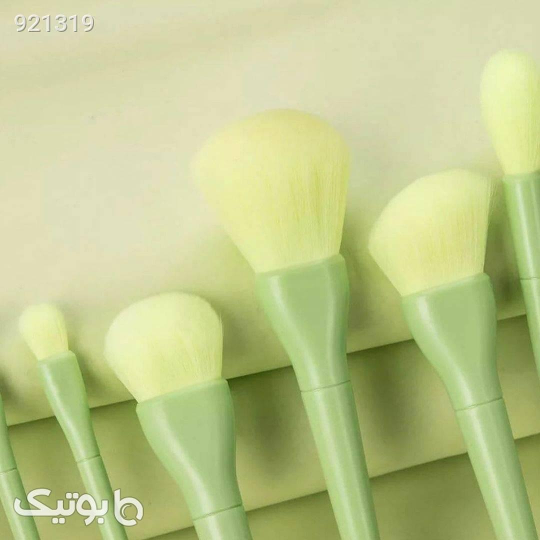 ست براش ده تیکه پاستیلی  سبز ابزار آرایشی
