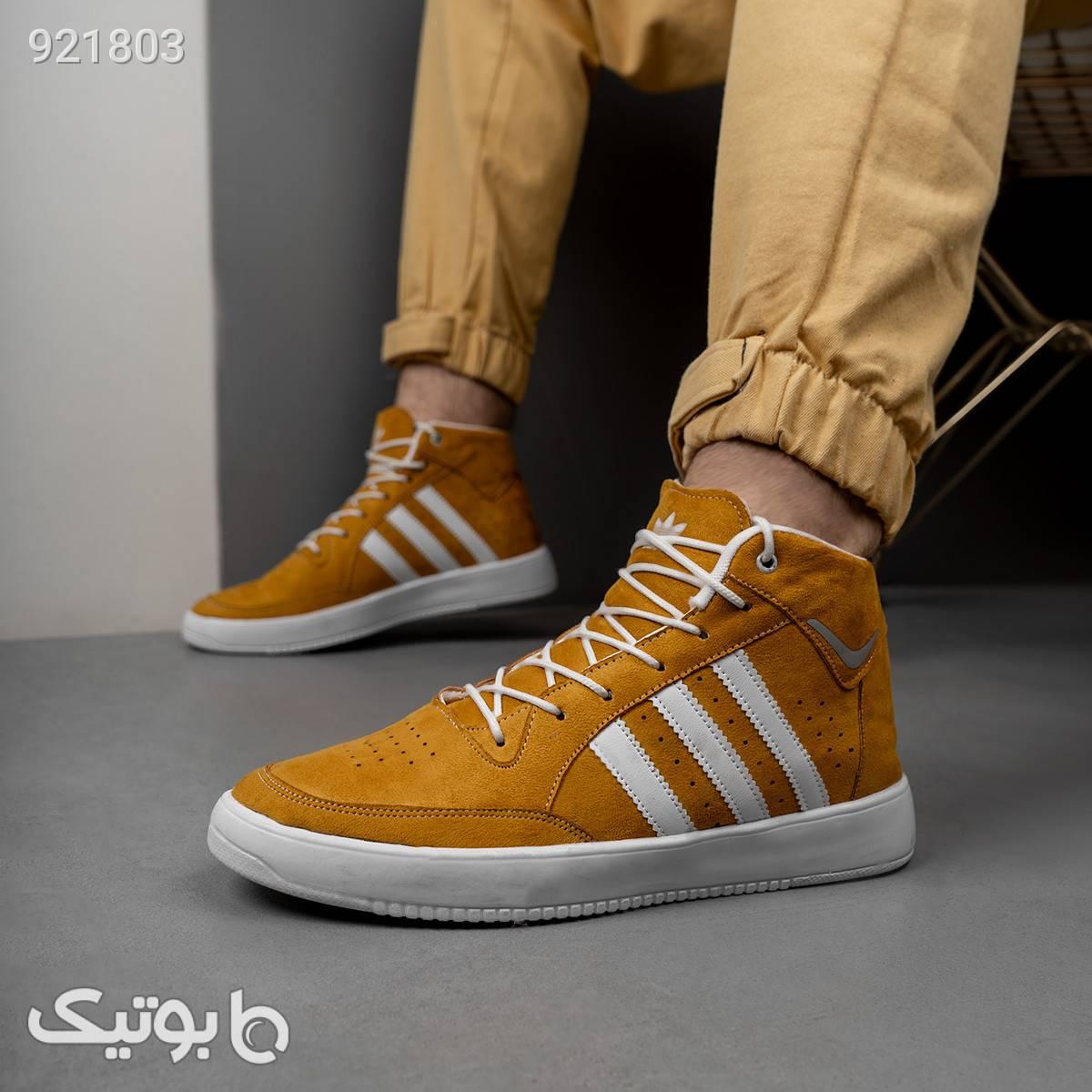 نیم بوت Adidas مردانه عسلی مدلsanil قهوه ای بوت مردانه