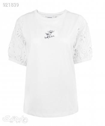 تیشرت زنانه جین وست Jeanswest کد 02273521 سفید تی شرت زنانه