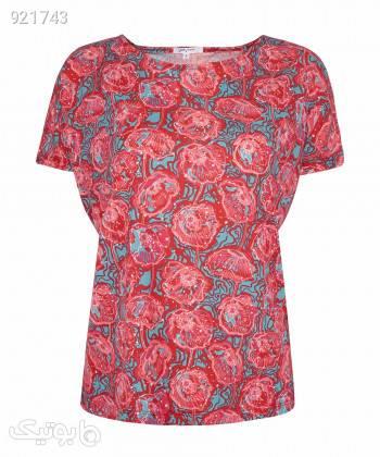 تیشرت طرح دار زنانه جوتی جینز JootiJeans کد 11773016 قرمز تی شرت زنانه