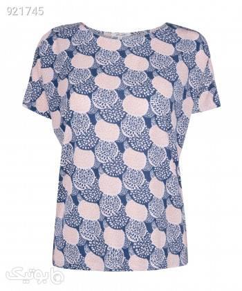 تیشرت طرح دار زنانه جوتی جینز JootiJeans کد 11773016 آبی تی شرت زنانه