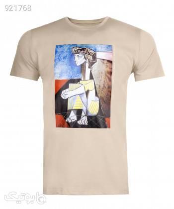 تیشرت طرح دار مردانه جوتی جینز JootiJeans کد 11573017 کرم تی شرت و پولو شرت مردانه
