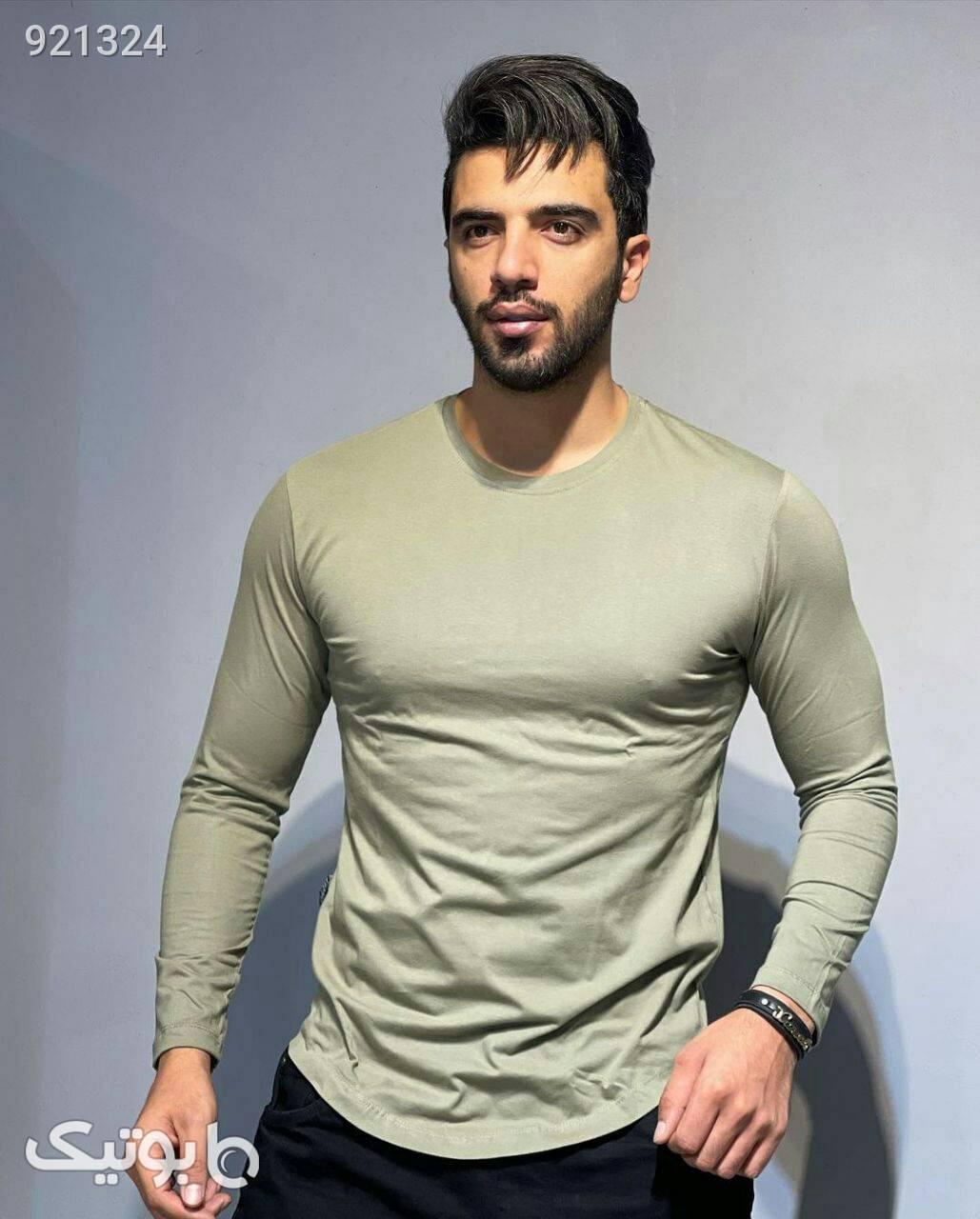 تیشرت های آستین بلند سبز تی شرت و پولو شرت مردانه