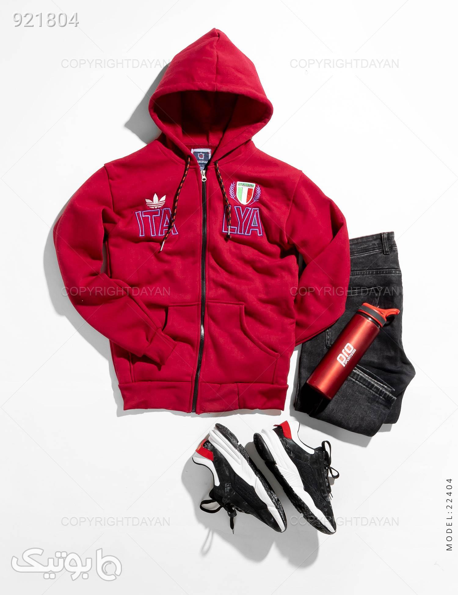 سویشرت مردانه Adidas مدل 22404 قرمز سوئیشرت و هودی مردانه