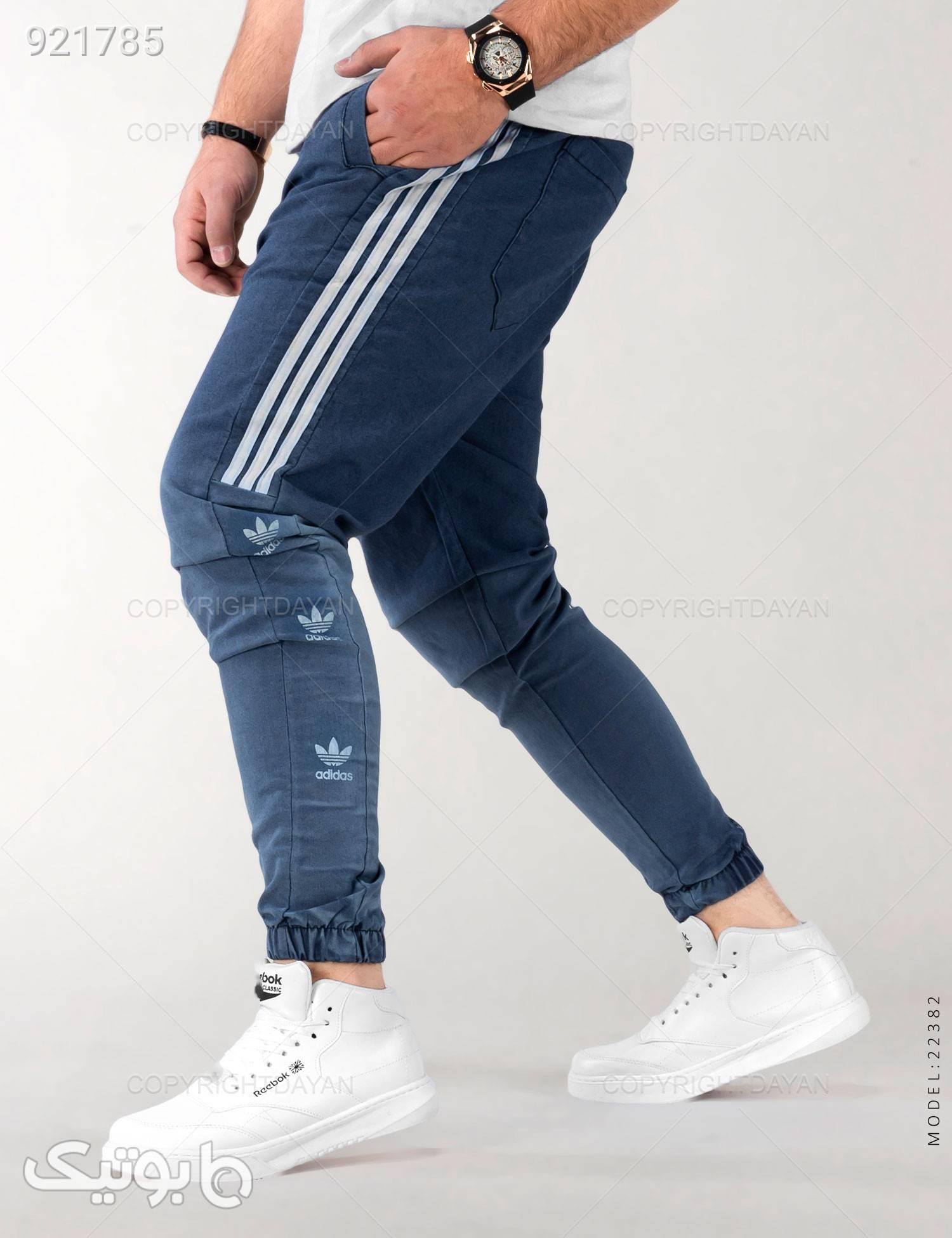 شلوار اسلش مردانه Adidas مدل 22382 آبی شلوار اسلش مردانه