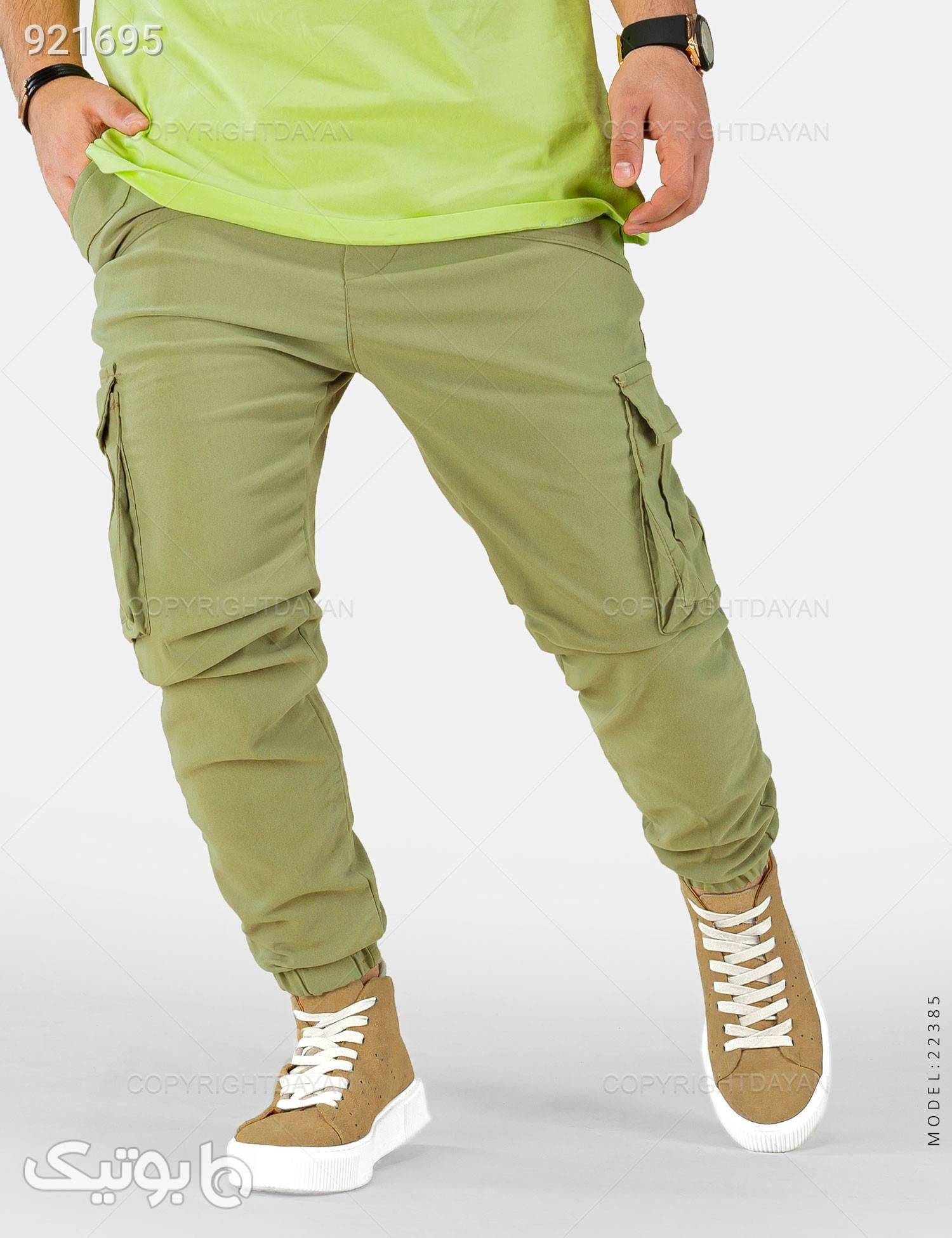 شلوار اسلش مردانه Denver مدل 22385 سبز شلوار اسلش مردانه