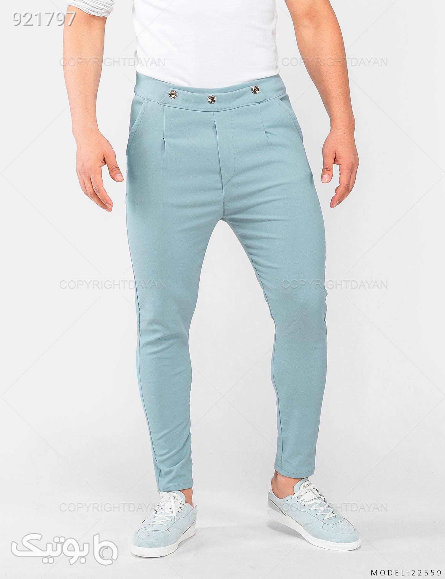 شلوار مردانه Zima مدل 22559 فیروزه ای شلوار جین مردانه