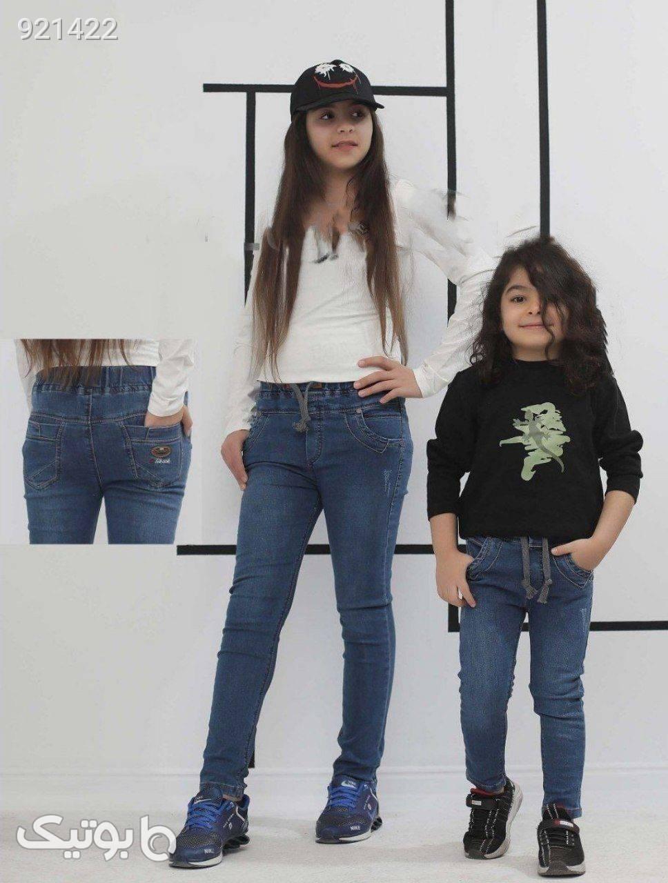 شلوار جین  آبی لباس کودک دخترانه