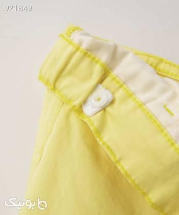 شلوار کتان دخترانه پیانو Piano کد 5673 زرد لباس کودک دخترانه