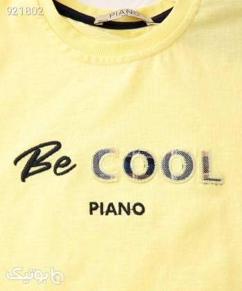 تیشرت پسرانه پیانو Piano کد 1935 زرد لباس کودک پسرانه